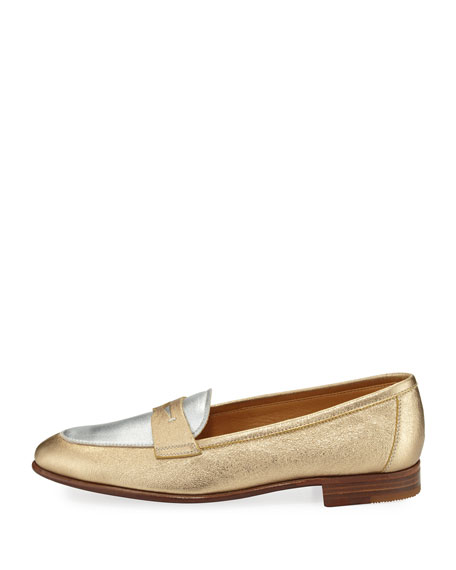 Flat Leather Penny Loafer