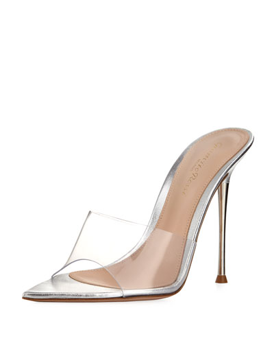 Plexi Illusion Pin-Heel Slide Sandal