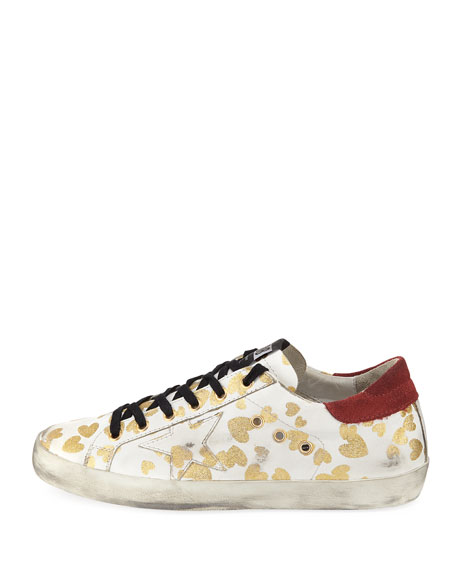 Superstar Hearts Lace-Up Sneaker
