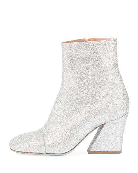 Glitter Coated Block-Heel Boot