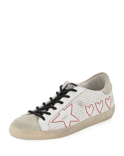 Superstar Perforated Lace-Up Star Sneaker