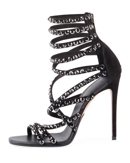 Diva Crystal-Embellished Strappy Sandal
