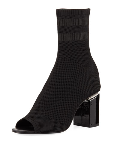 Knit Sock Cat Boot, Black