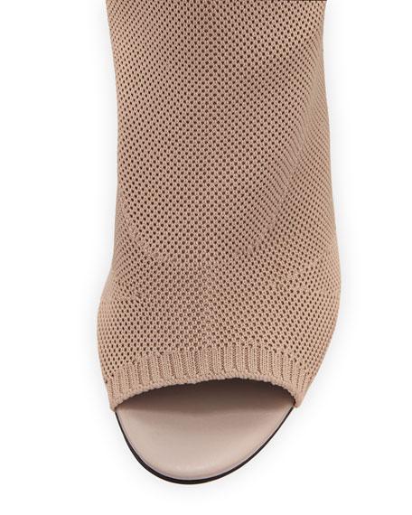 Knit Sock Cat Boot, Nude