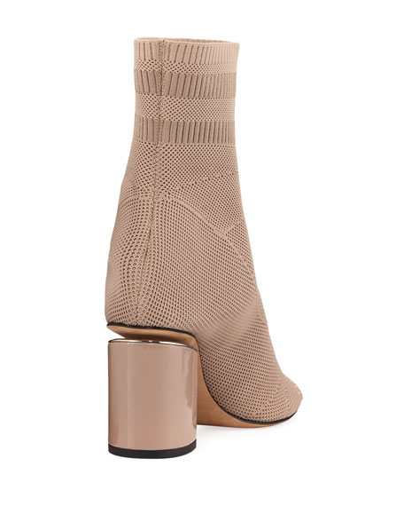 Knit Sock Cat Boot, Nude