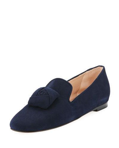 Rosen Suede Loafer, Navy