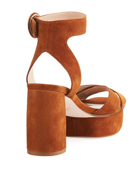 Carmina Suede Platform Sandal