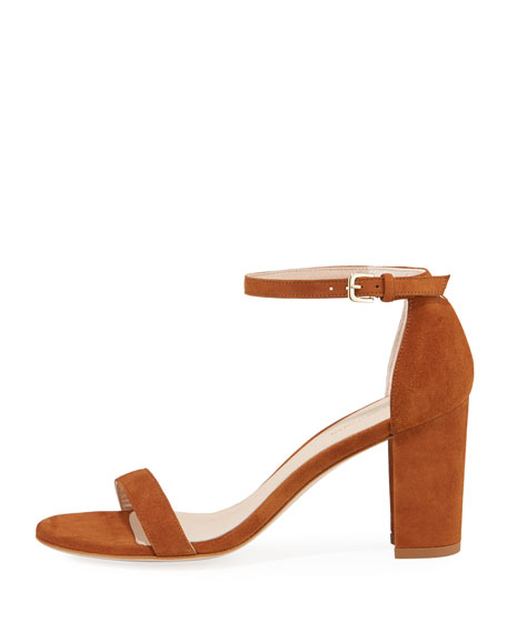 Nearlynude Suede City Sandal, Brown