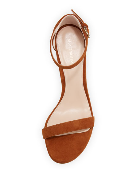 Nearlynude Suede City Sandals, Brown