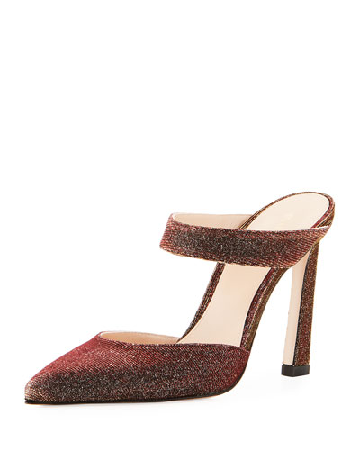 Eventually Glitter Mule Pump