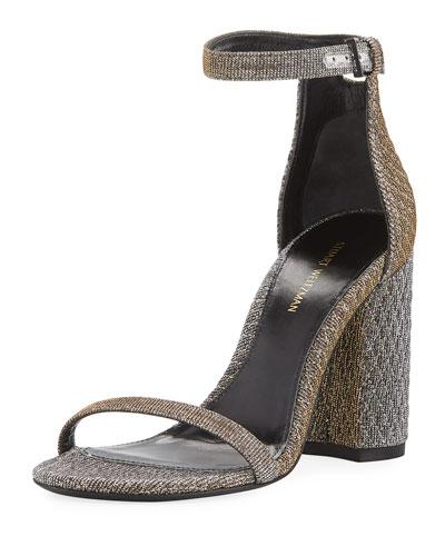 Nuquilt Block-Heel d'Orsay Sandal