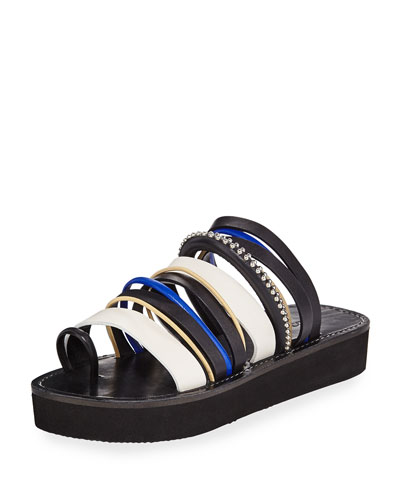 Eva Strappy Platform Slide Sandal