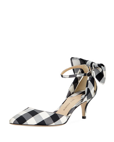 Anya Gingham Bow Pump