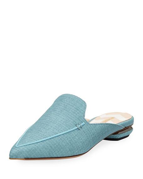 Beya Flat Raffia Loafer Mule