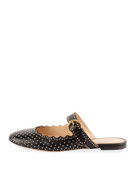 Studded Mary Jane Mule Slide