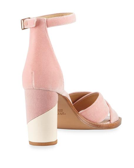 John Velvet Block-Heel d'Orsay Sandal