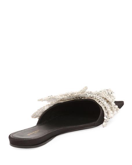 Embellished Pointed-Toe Flat
