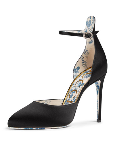 Daisy 105mm Satin Ankle-Strap d'Orsay Pump