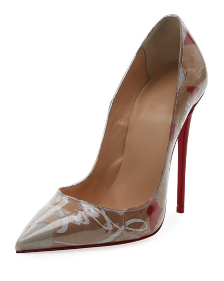 So Kate 120Mm Collage Red Sole Pumps, Multi Pattern