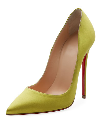 So Kate 120mm Crepe Satin Red Sole Pumps