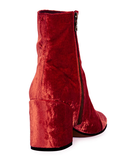Crushed Velvet 70mm Bootie