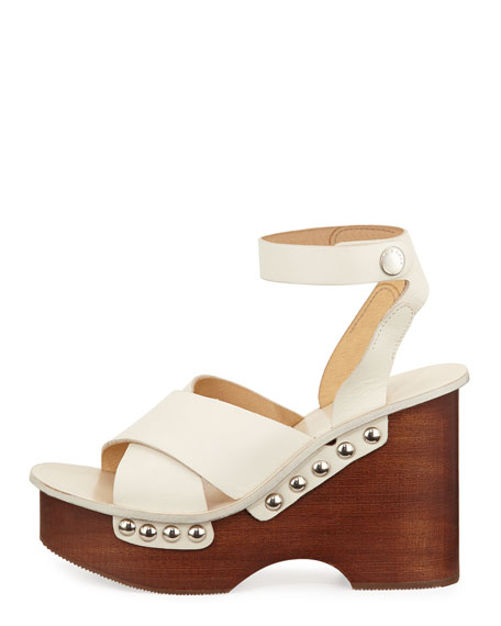 0ef326d26ad Rag   Bone Hester Leather Wedge Sandal