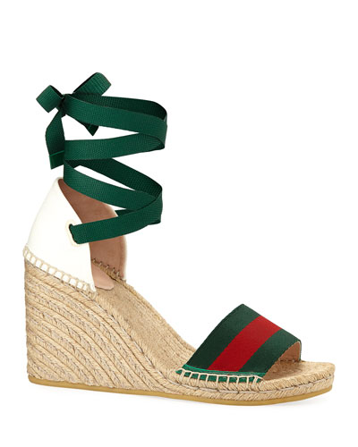 Web Wedge Espadrille Sandals