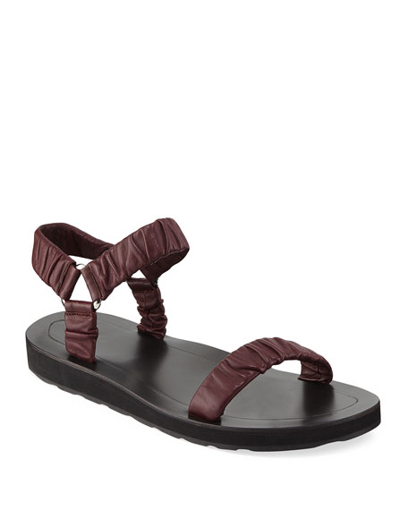 Womens Egon Leather Sandals The Row OtLAaPlL3d