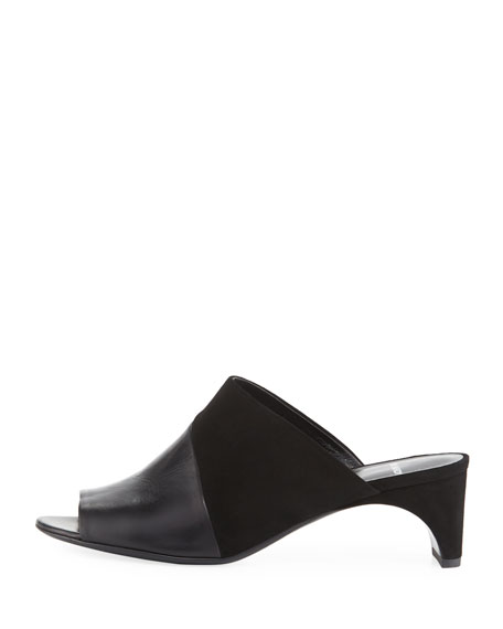 Leather & Suede Mule Sandal