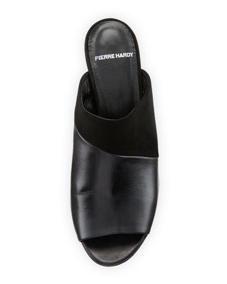 Leather & Suede Mule Sandal