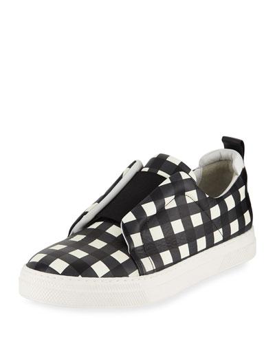 Slider Check Platform Sneaker