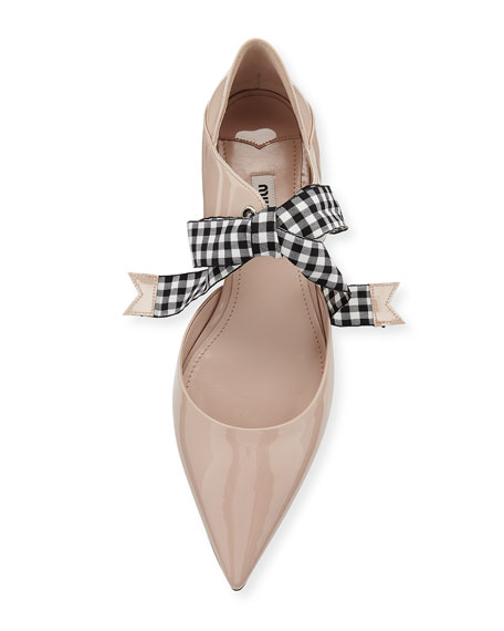 Patent Leather Ankle-Tie d'Orsay Flat