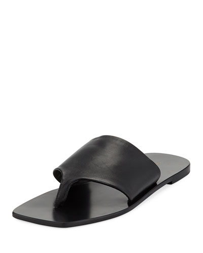 Flat Napa Leather Thong Sandal