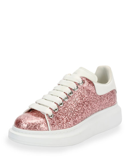 Glitter platform leather sneakers Alexander McQueen fD4bP
