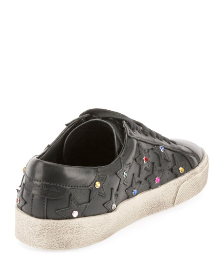 Court Classic Crystal-Studded Sneakers