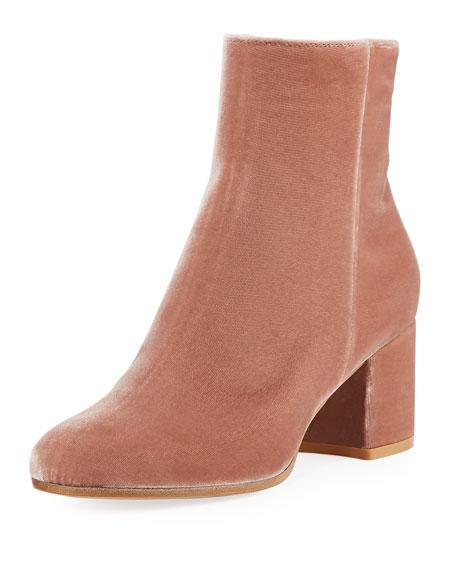 Margaux Mid Bootie Velvet 60mm Block-Heel Ankle Boot