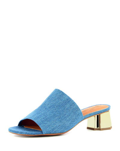 Lamo Denim Slide Mule, Blue