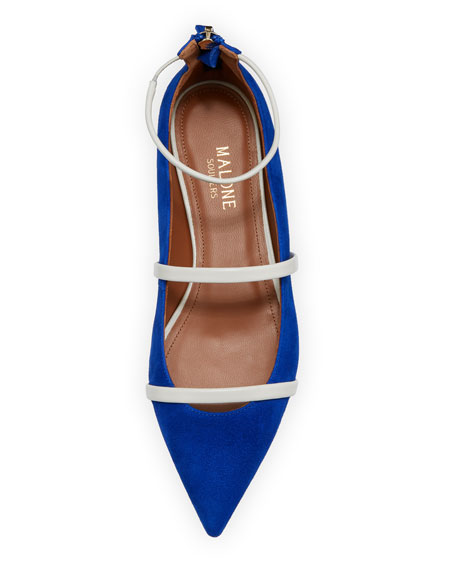 Robyn Suede/Napa Ankle-Strap Flat