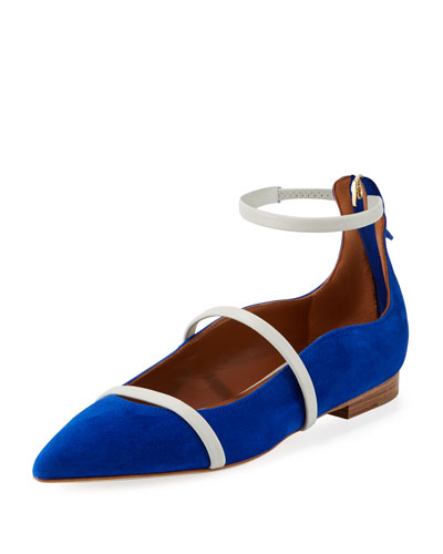 Robyn Suede/Napa Ankle-Strap Flat