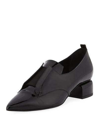 Billy Patent Stretch-Band Loafer