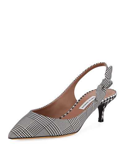 Rise Houndstooth Slingback Pump