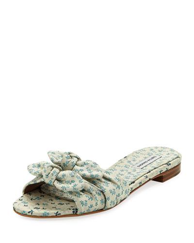 Cleo Floral Slide Sandal