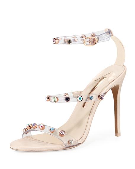 Rosalind Gem Leather Sandal in Metallic