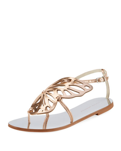 Bibi Butterfly Flat Sandals, Silver