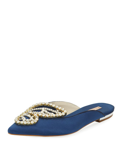 Bibi Butterfly Pearly Mules