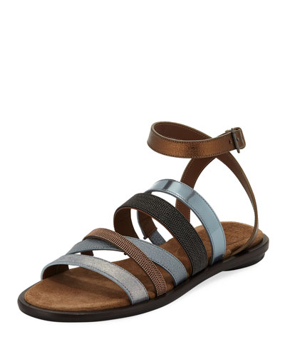 Monili and Mixed Media Sandal