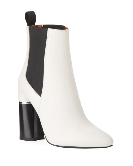 Drum Stretch Chelsea Boot in White