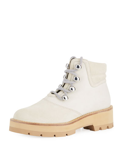 Dylan Suede/Canvas Lace-Up Hiking Boot
