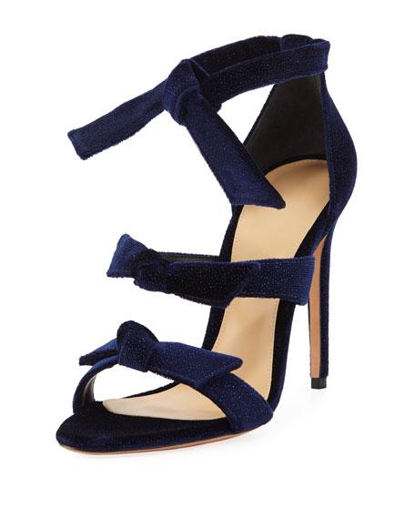 Alexandre Birman Lolita Glittered Bow Sandal