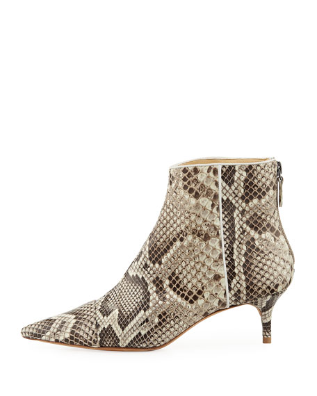 Kittie Python Ankle Booties